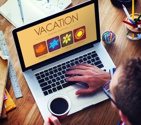 select: Vacation Season Select Summer Winter Concept