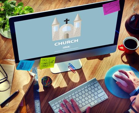 protestant: Church Christian Catholic Protestant Orthodox Believe Worship Concept