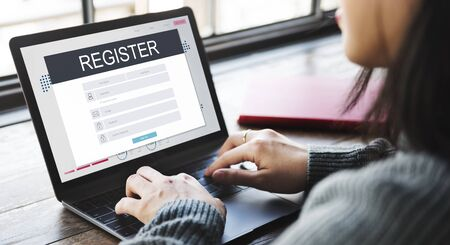account form: Resigtration Application Membership Account Concept