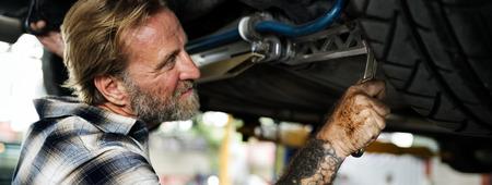 disassembly: Garage Automotive Maintenance Parts Vehicle Concept