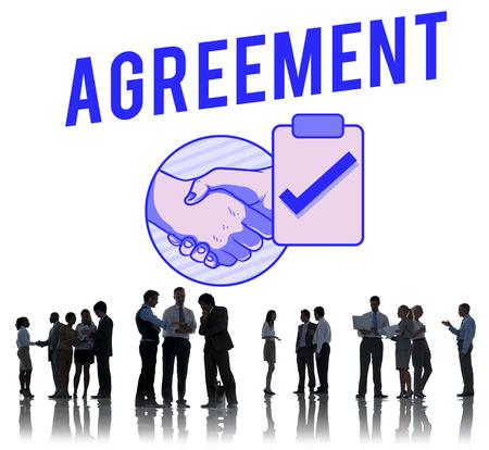 acquaintance: Business Agreement Deal Handshake Graphic Concept