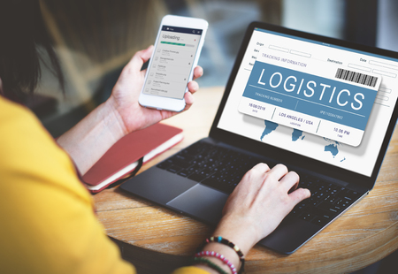 place to learn: Logistics Delivery Cargo Freight Shipment Concept Stock Photo