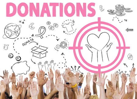 Donations Foundation Giving Help Welfare Charity Concept Stock Photo