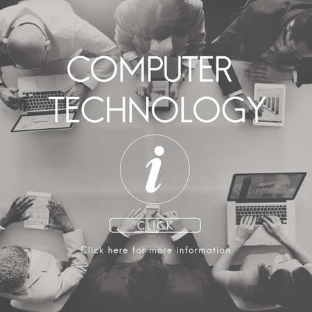 Information Technology Computer System Concept Stock Photo