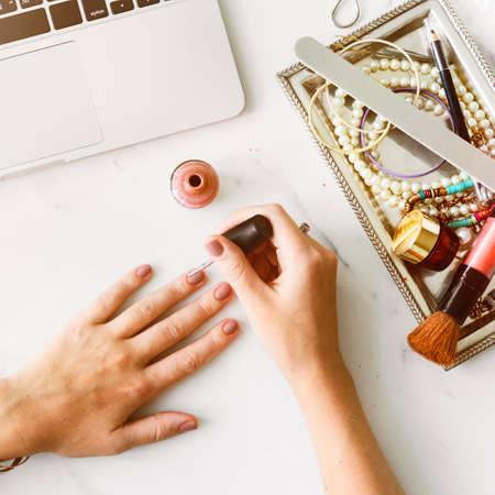 nailpolish: Manicure Beauty Accessory Brush Paint Brush Concept