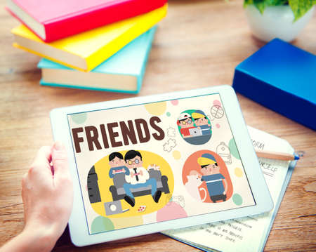 friendliness: Friends Friendship Activity Leisure Concept