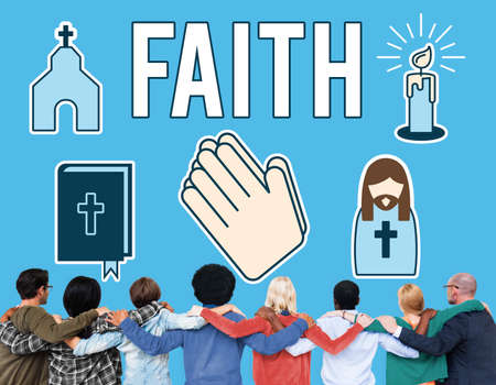 believe: Faith Belief Believe Confidence Conviction Hope Concept Foto de archivo
