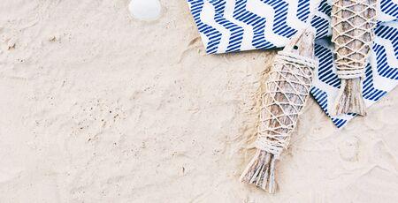 wanderlust: Summer Travel Trip Vacation Wanderlust Beach Concept Stock Photo