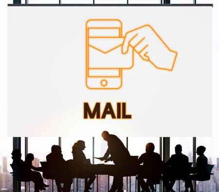 electronic mail: Electronic Mail Technology Email Graphic Concept Stock Photo