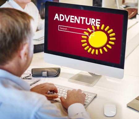 Adventure concept on computer