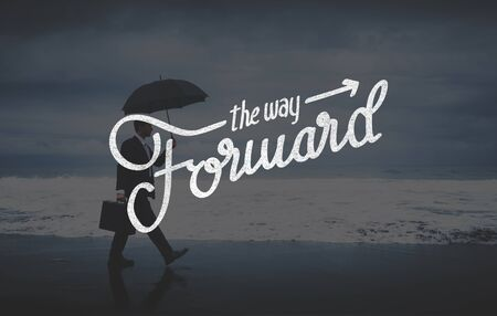 onward: The Way Forward Aspirations Goals Target Development Concept