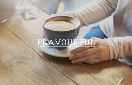 flavorful: Flavorful Coffee Relaxing Break Time Rest Concept Stock Photo