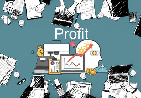 banking concept: Profit Accounting Finance Auditing Money Banking Concept