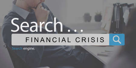 financial crisis: Financial Crisis Depression Problem Banking Concept