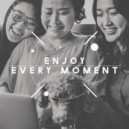 Happy Moments Laughter Happiness People Graphic Concept