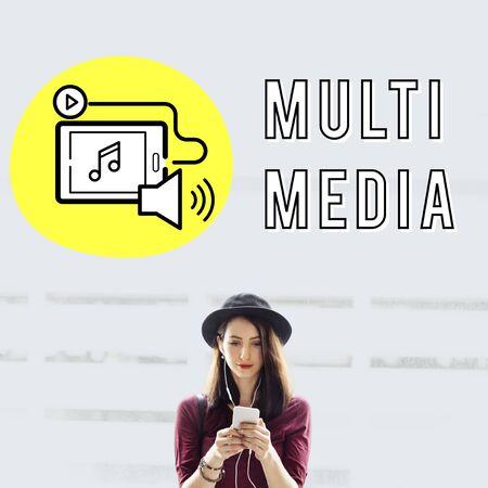 podcast: Podcast Digital Device Social Media Concept Stock Photo
