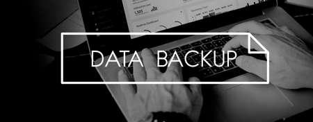 data backup: Data Backup Information Storage Server Technology Concept