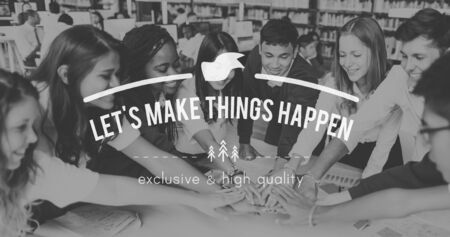 take action: Lets Make Things Happen Progress Take Action Concept