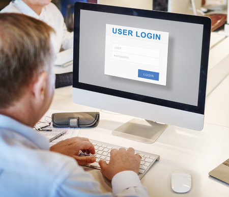 account executive: User Login Security Privacy Protection Concept