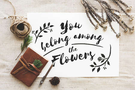 belong: Garden Flower Belong Alway Concept