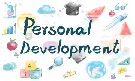 personal development: Personal Development Strategy Learning Research Concept
