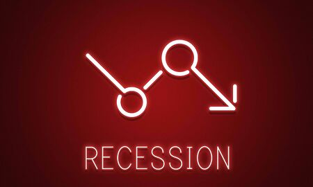 Bankruptcy Critical Recession Inflation Graphic Concept Stock Photo