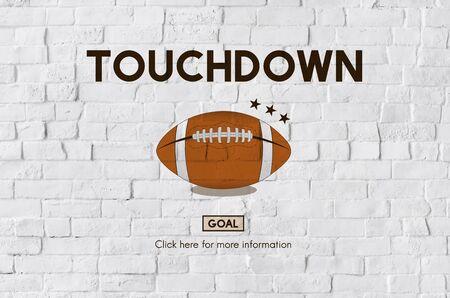 touchdown: Football Touchdown Sport Graphics Concept