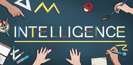 insight: Intelligence Inteligent Smart Genius Insight Skilled Concept Stock Photo