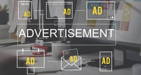 Publicidad Marketing Publicidad comercial Branding Concept