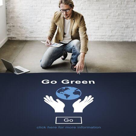 Go Green Environmental Conservation Sustainability Nature Concept Reklamní fotografie