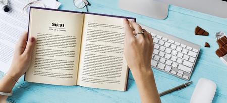 novel: Relax Free Time Reading Book Novel Concept Stock Photo