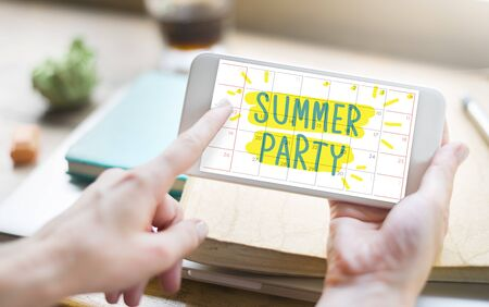 Suumer Party Celebration Zomer Strand Concept