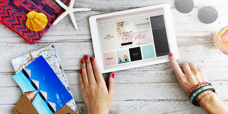 Summer Holiday Online Shopping Tablet Concept