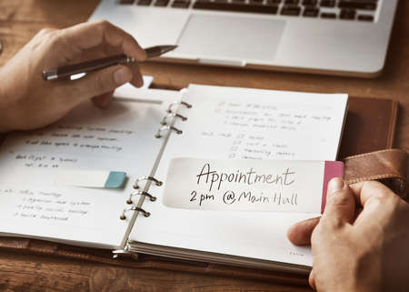 appointing: Schedule Agenda Appointment Meeting Objective Concept