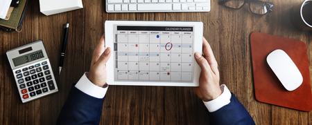 Calendar Appointment Schedule Memo Management Organizer Urgency Concept Foto de archivo