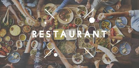 bistro: Restaurant Bistro Culinary Food Kitchen Cafeteria Concept Stock Photo