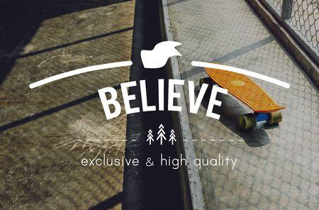 creer: Cree la fe Esperanza Ideas Imaginación inspiración concepto Foto de archivo