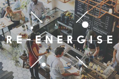 invigorate: Energize Efficiency Refreshment Renew Vitalize Concept