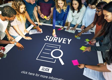 investigation: Survey Results Analysis Discovery Investigation Concept Stock Photo