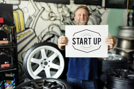 adjustment: Garage Automotive Tuning Adjustment Startup Concept Stock Photo