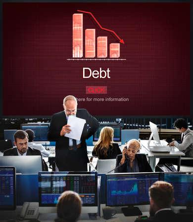 owed: Debt Bill Banking Financial Planning Loan Money Concept Stock Photo