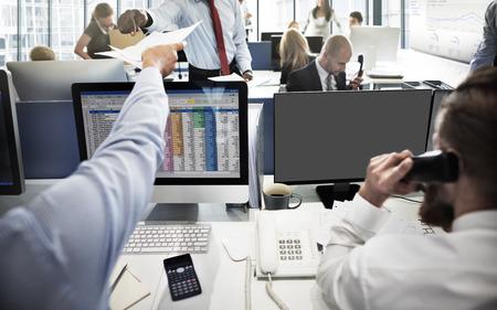 financial market: Mockup Copy Space Blank Screen Concept