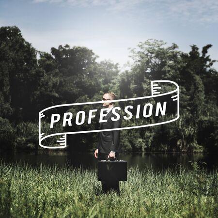 attache case: Professional Business Career Connection Design Concept