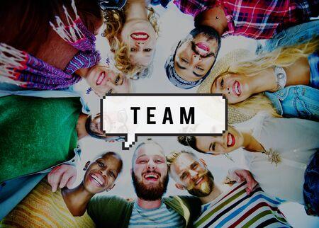 team group: Team Building Teamwork Togetherness Unity Concept