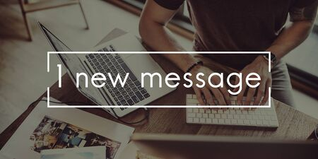 new message: New Message Information News Communication Concept Stock Photo