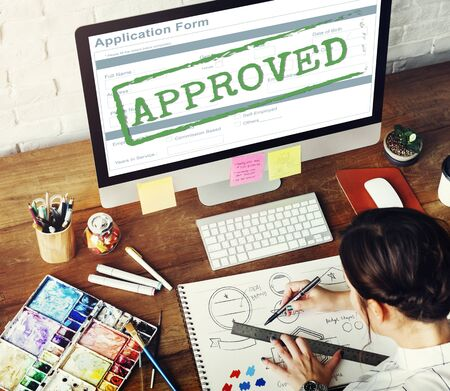 allowed: Approved Allowed Approval Application Form Concept Stock Photo