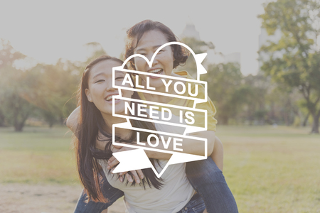 all love: All You Need Is Love Heart Graphic Concept Stock Photo