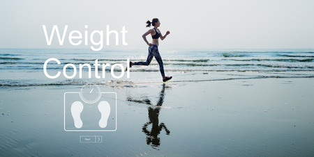 BMI: Weight Control BMI Wellbeing Lifestyle Concept
