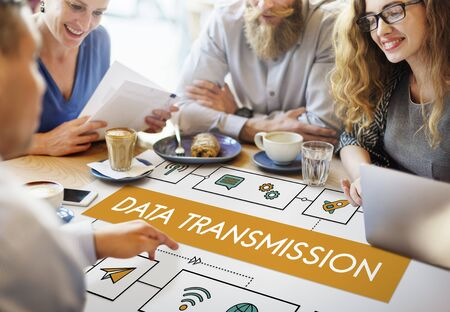 Connection Wireless Online Transmission Transfer Concept Stock Photo