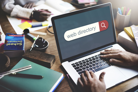 directory: Web Directory Search Engine Browser Find Concept Stock Photo